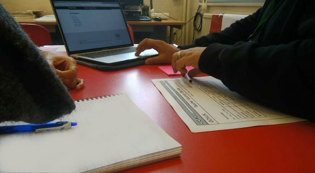 Usability testing of the prototypes