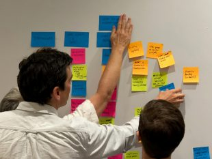 people creating an affinity map