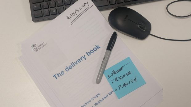 Paper copy of The Delivery Book