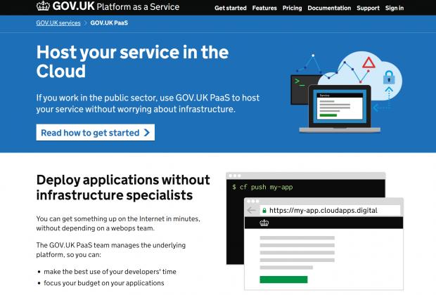 GOV.UK Platform as a Service homepage
